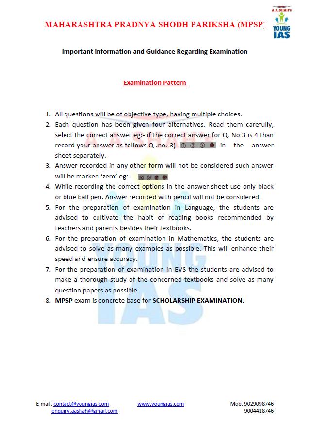 Imp Inf Regarding Exam 6th